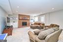 Fourth Fireplace, Recessed Lighting in Rec Room - 1607 FIELDING LEWIS WAY, MCLEAN