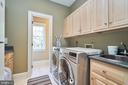 Main Level Laundry with Cabinets - 1607 FIELDING LEWIS WAY, MCLEAN
