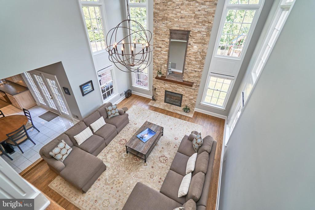 View from Upper Level to Family Room - 1607 FIELDING LEWIS WAY, MCLEAN