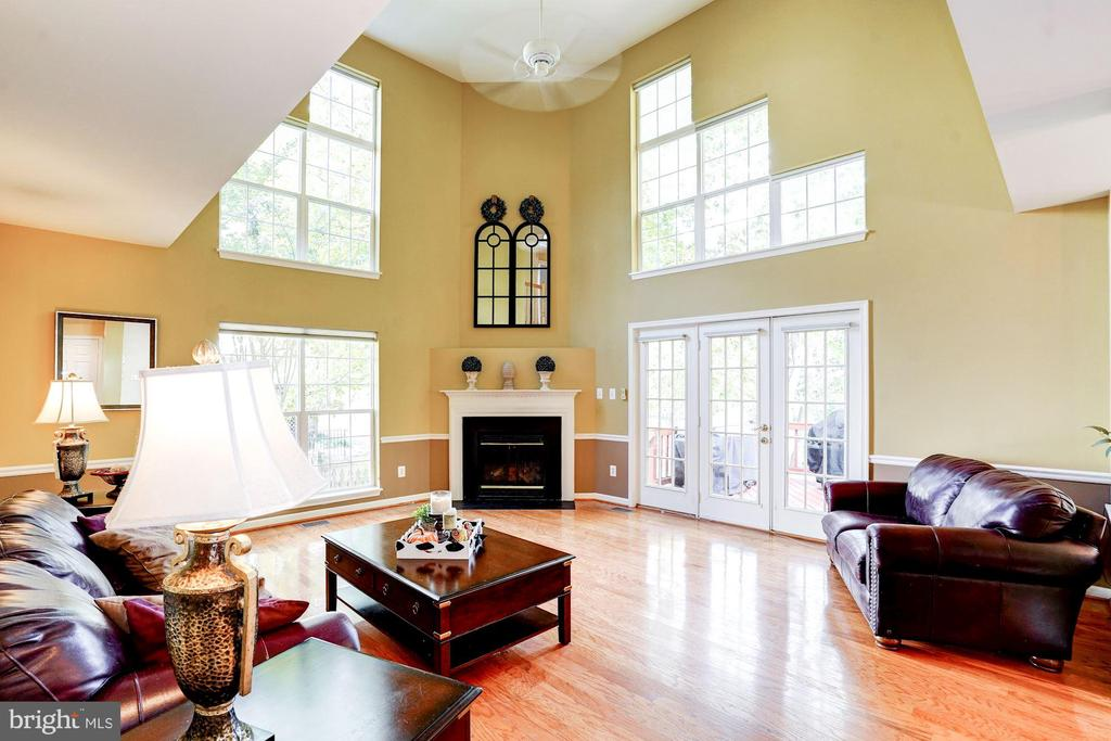fabulous family room w/access to back yard - 25272 RIPLEYS FIELD DR, CHANTILLY