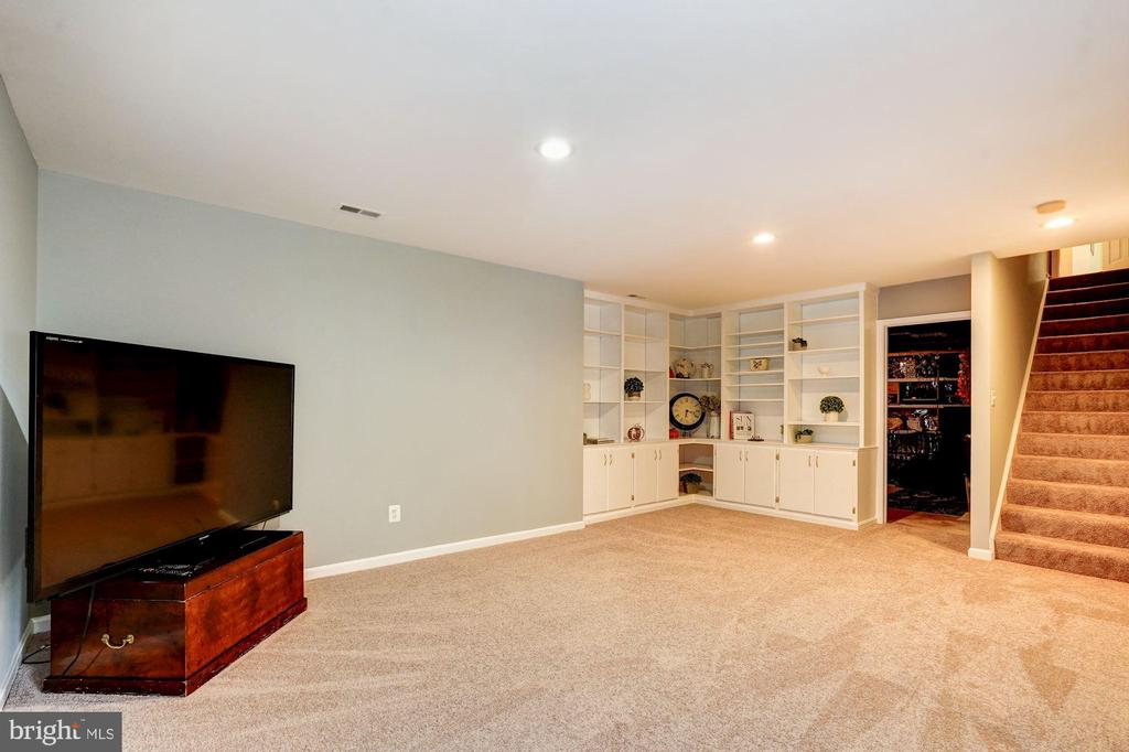 cozy lower level rec room w/ built in - 25272 RIPLEYS FIELD DR, CHANTILLY