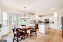 eat in kitchen overlooking backyard - 25272 RIPLEYS FIELD DR, CHANTILLY