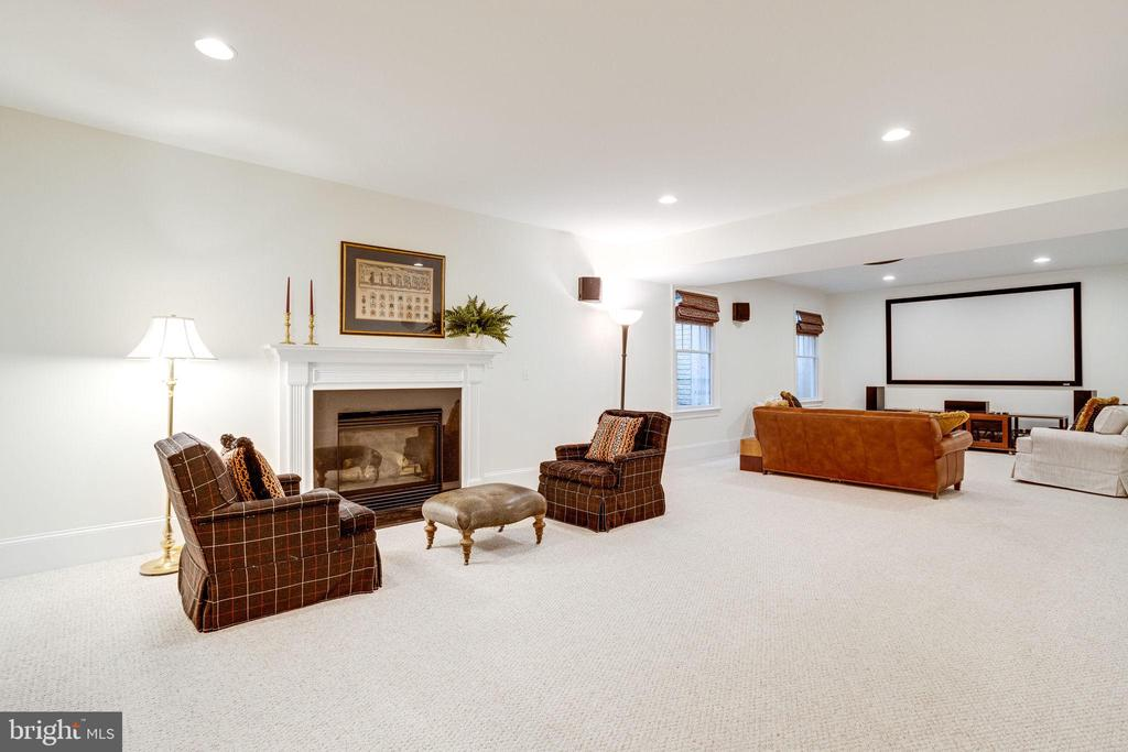 Lower Level Family Room and Theater Area - 7357 NICOLE MARIE CT, MCLEAN