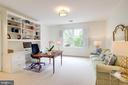 Bedroom 4 with built-ins and en-suite bath - 7357 NICOLE MARIE CT, MCLEAN