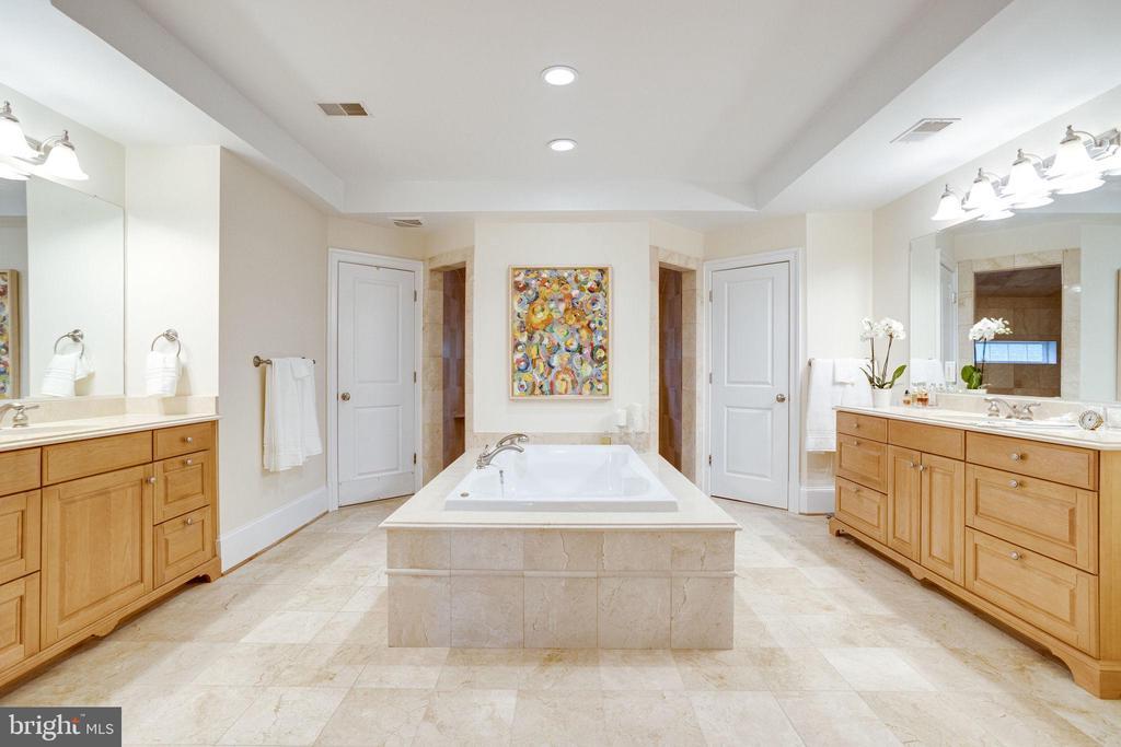 Separate Vanities, Soaking Tub, Separate Shower - 7357 NICOLE MARIE CT, MCLEAN