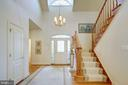 GRAND TWO-STORY ENTRANCE FOYER - 2669 BROOK VALLEY RD, FREDERICK