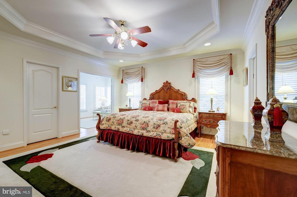 LUXURY MASTER SUITE ACCENTED BY TRAY CEILING - 2669 BROOK VALLEY RD, FREDERICK