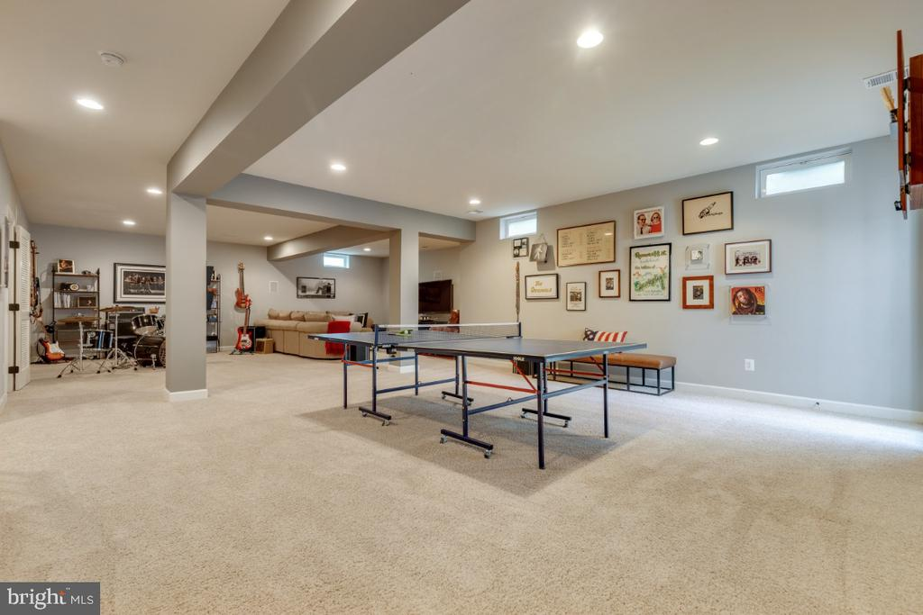 Game room with walk-up stairs to back yard - 25401 JUBILANT DR, ALDIE