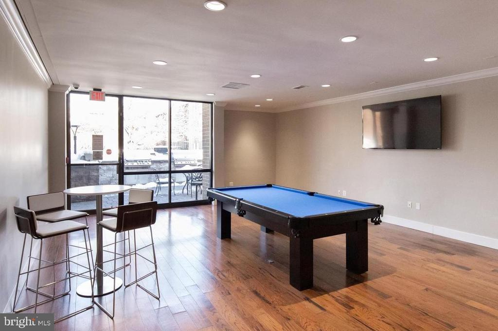 Community Room-invite  friends for a game of pool - 12 S VAN DORN ST #404, ALEXANDRIA