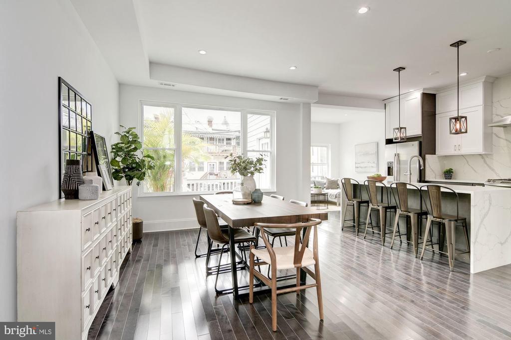 Dining area adjacent to chef's kitchen - 1362 OAK ST NW, WASHINGTON