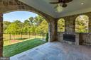 Covered Terrace w/ Gas Fireplace - 8533 GEORGETOWN PIKE, MCLEAN