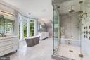 Master Bath w/ Steam Shower and Freestanding Tub - 8533 GEORGETOWN PIKE, MCLEAN