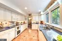Remodeled kitchen w/gorgeous nature view - 10733 CROSS SCHOOL RD, RESTON
