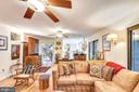 Cozy family room features plenty of room - 10733 CROSS SCHOOL RD, RESTON
