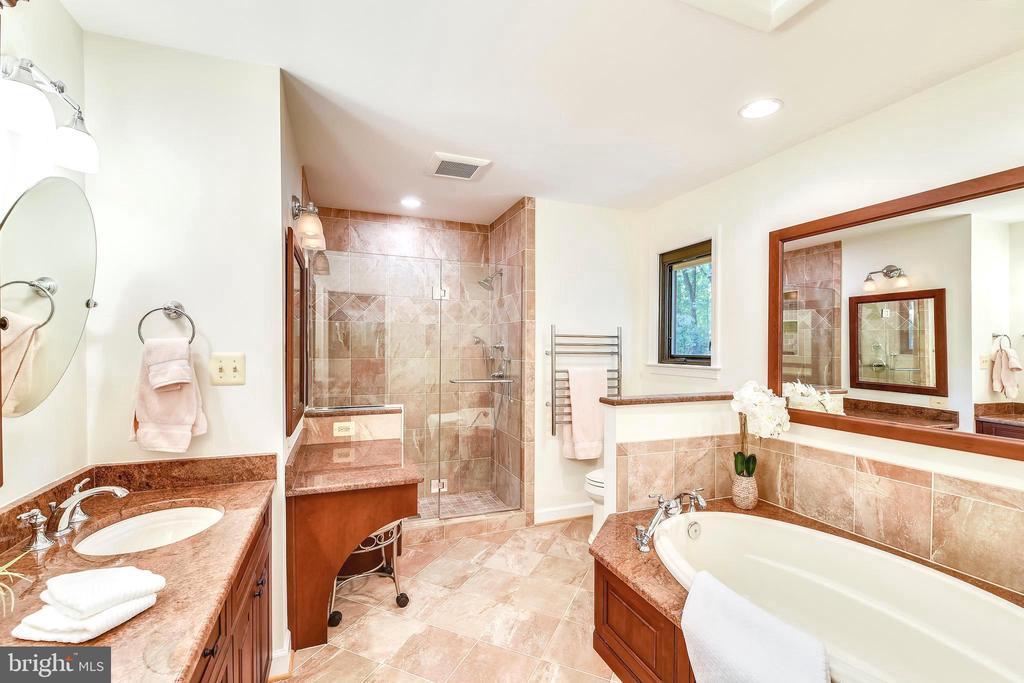 Stunning master spa features heated floors - 10733 CROSS SCHOOL RD, RESTON