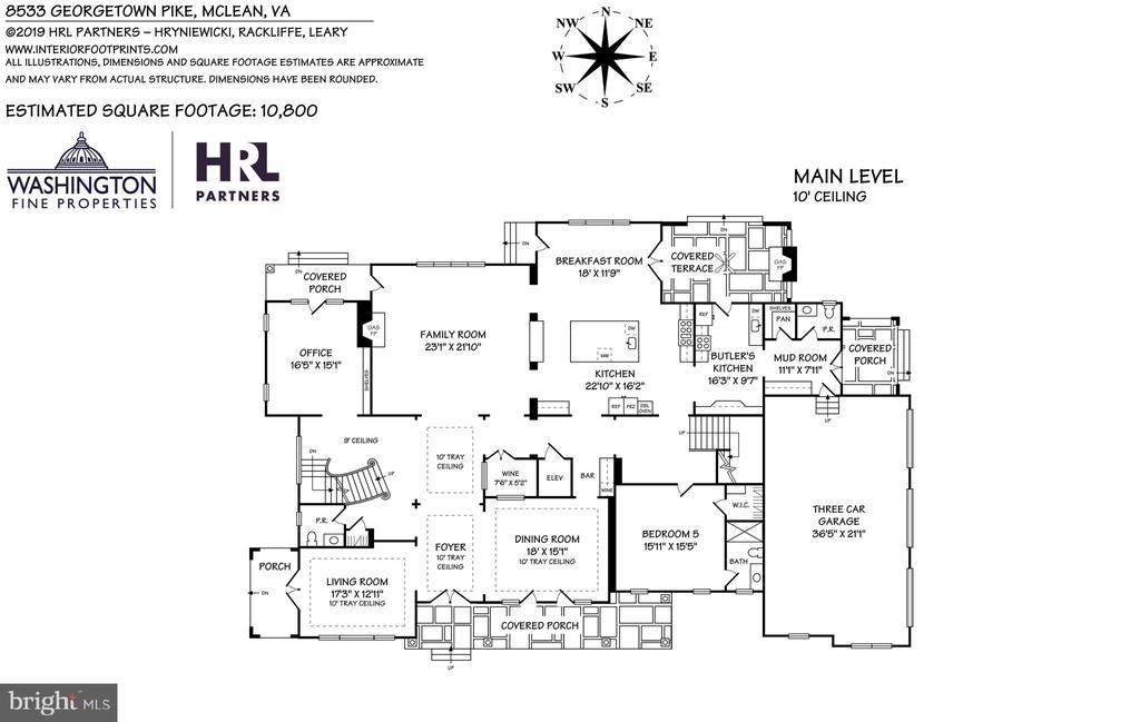 Main Level Floor Plan - 8533 GEORGETOWN PIKE, MCLEAN