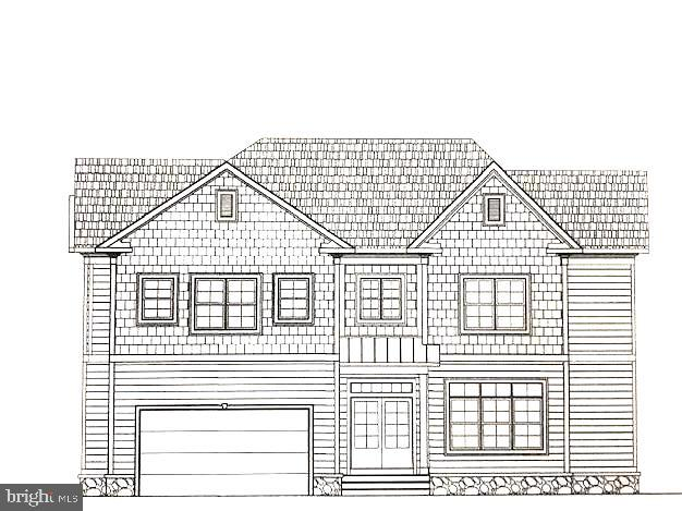 Front view of actual house drawing - 706 KINGSLEY RD SW, VIENNA