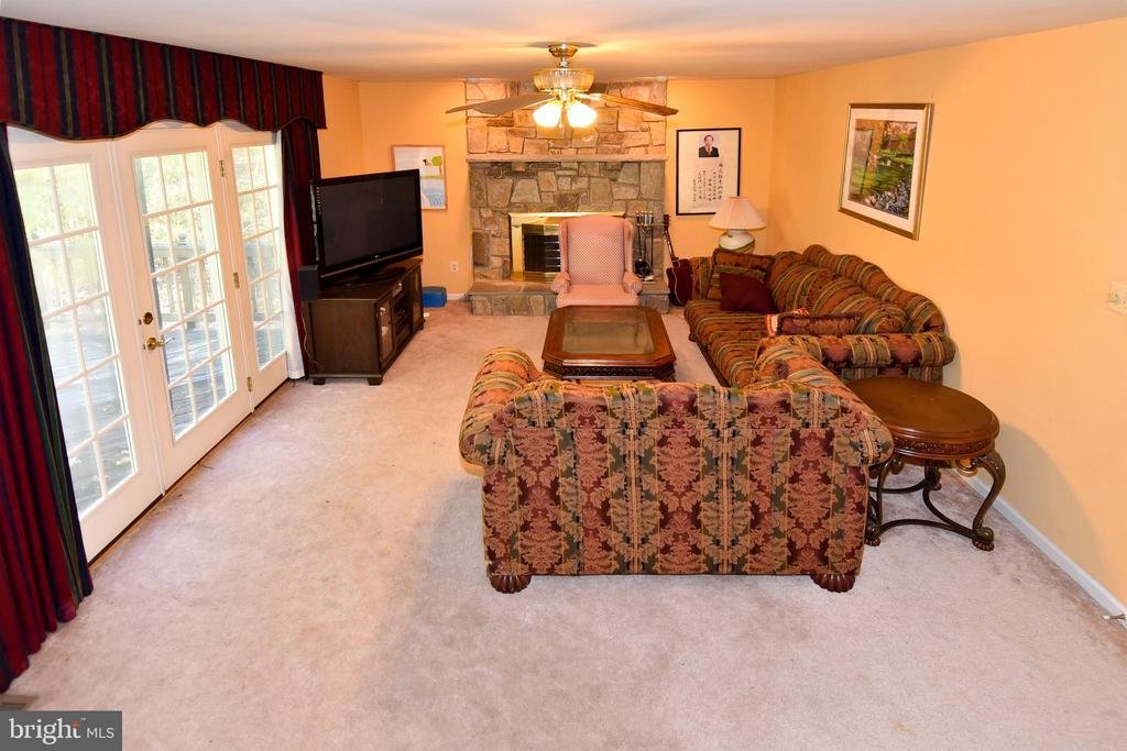Cozy family room w/ fireplace - 13919 WHETSTONE MANOR CT, CLIFTON