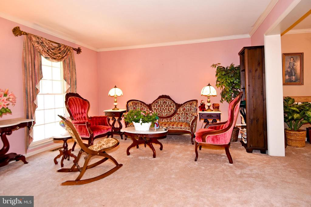 Lovely living room leads to the dining room - 13919 WHETSTONE MANOR CT, CLIFTON