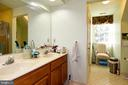 Double vanity, WC, and separate shower - 13919 WHETSTONE MANOR CT, CLIFTON