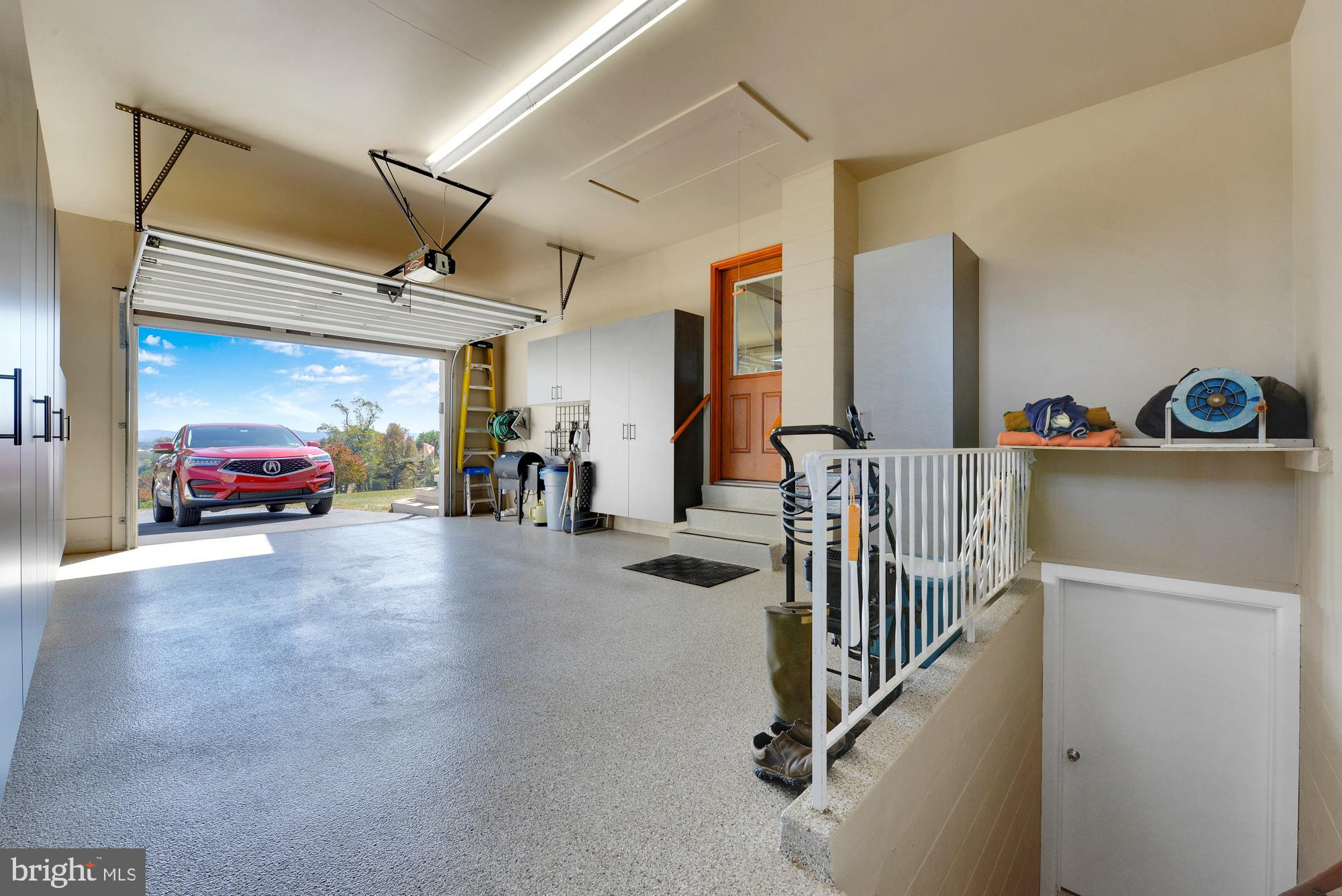 Attached one car garage with epoxy floors