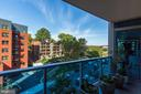 One of Two Private Balconies - 1881 N NASH ST #510, ARLINGTON