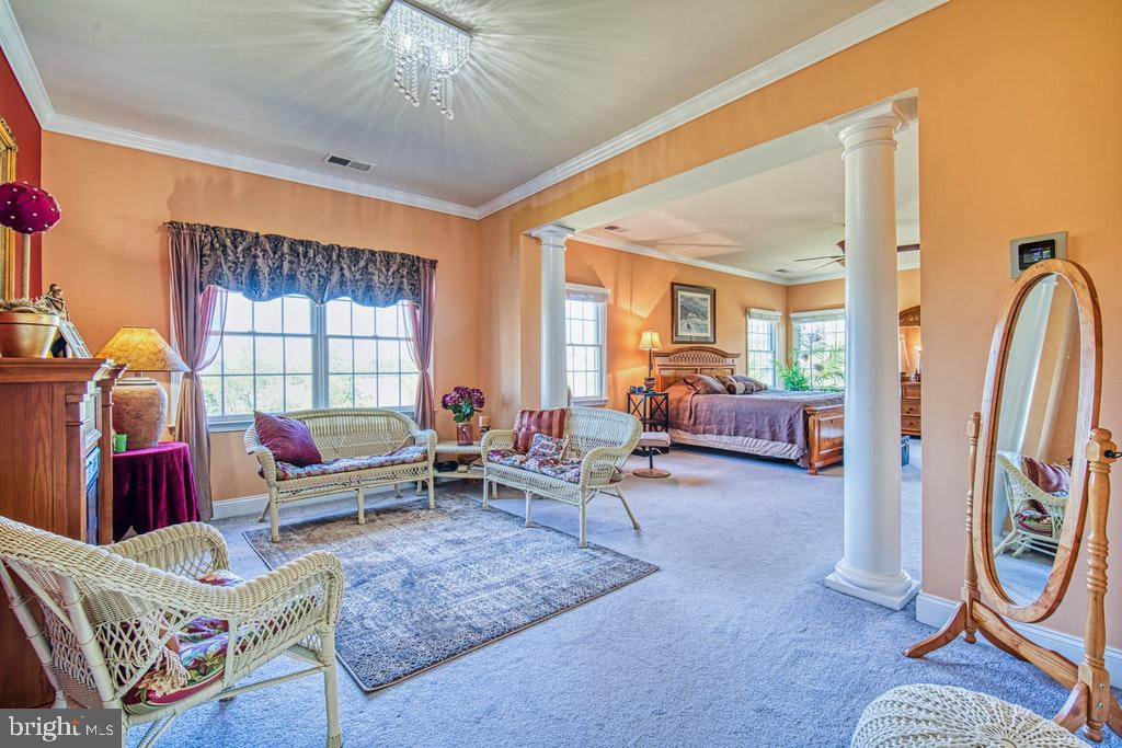 Master suite has cozy sitting room - 15500 BANKFIELD DR, WATERFORD