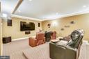 Fun media room with theater seating - 20190 KIAWAH ISLAND DR, ASHBURN