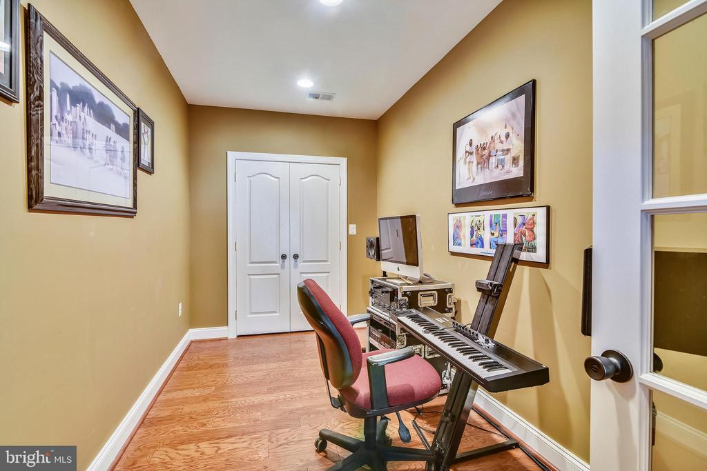 Lower level den/office has closet w/shelves - 20190 KIAWAH ISLAND DR, ASHBURN