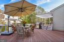 Large 2 tier deck w/pergola covered area - 20190 KIAWAH ISLAND DR, ASHBURN