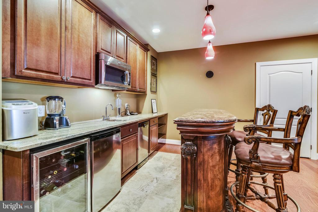 Granite counters, wine cooler, bar dishwasher - 20190 KIAWAH ISLAND DR, ASHBURN