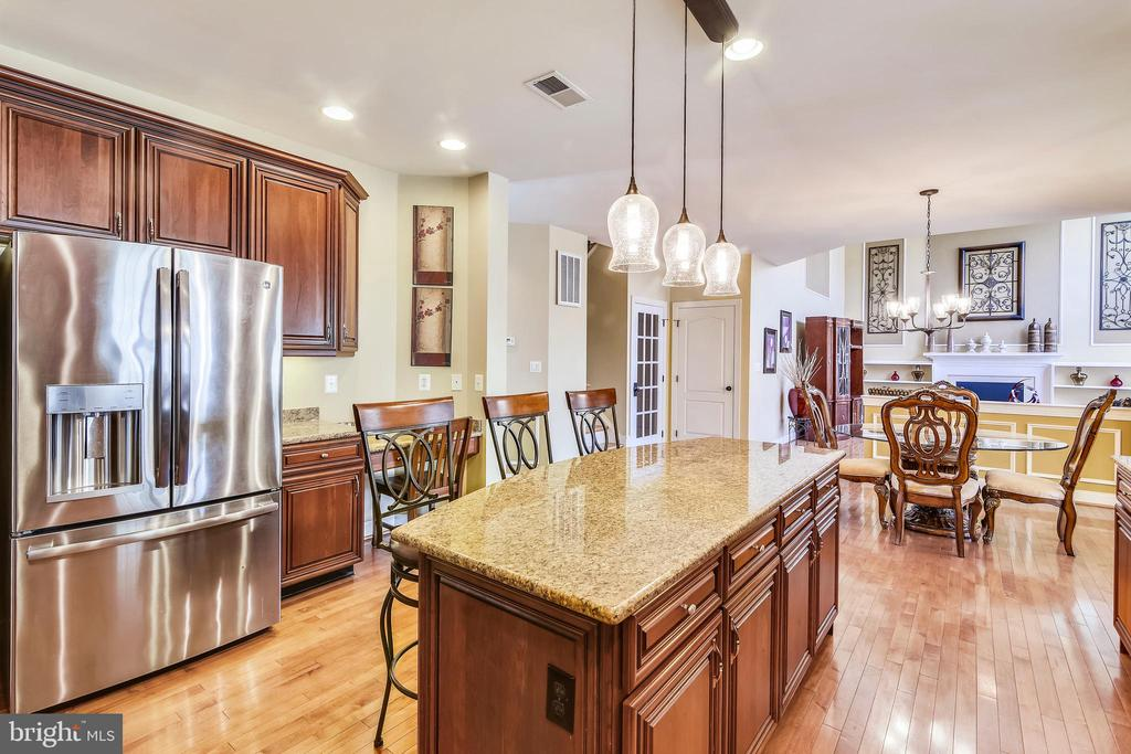 Kitchen open to living spaces - 20190 KIAWAH ISLAND DR, ASHBURN