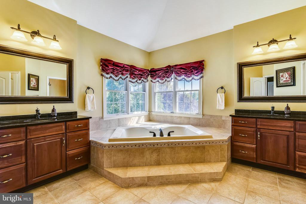 Master bath w/separate vanities & jetted tub - 20190 KIAWAH ISLAND DR, ASHBURN