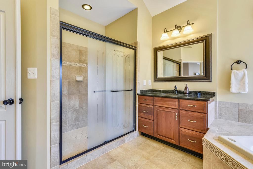 Master bath w/vaulted ceiling & separate shower - 20190 KIAWAH ISLAND DR, ASHBURN