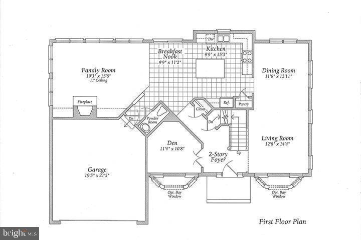 Main level floor plan - 806 SANTMYER DR SE, LEESBURG