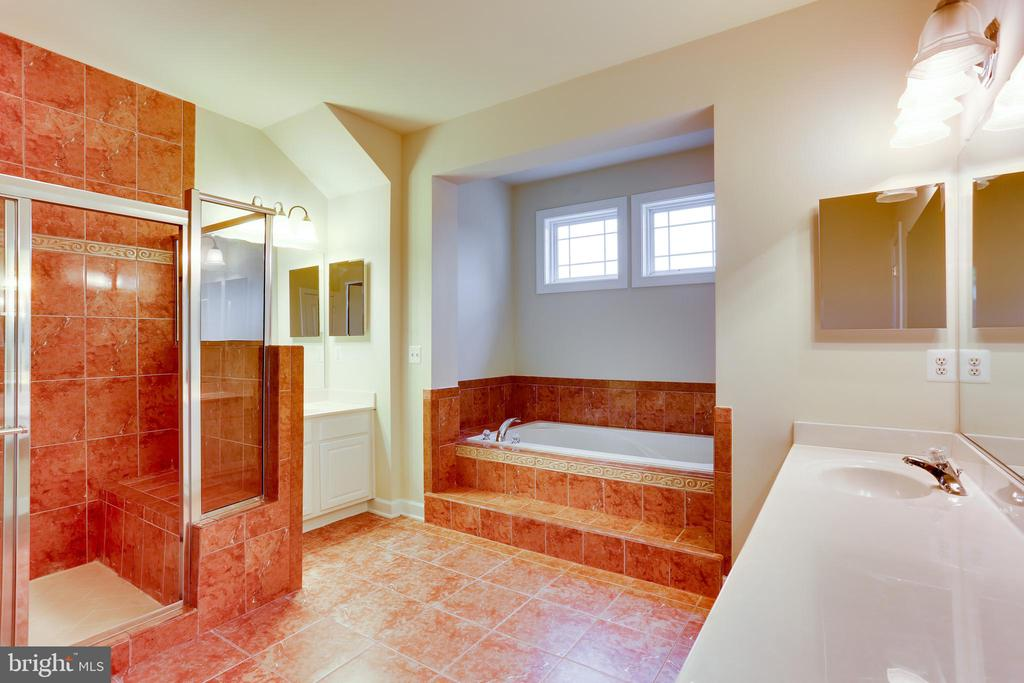 Huge master bathroom - 23098 DUCATO CT, BRAMBLETON