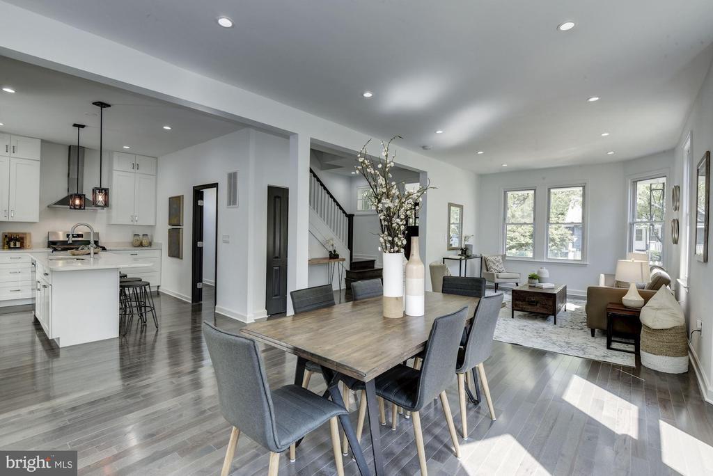 Open Concept Dining & Living - 3304 17TH ST NE, WASHINGTON
