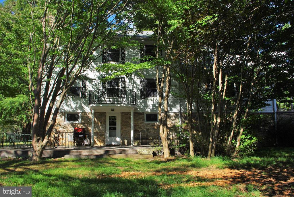 The southern elevation and patio - 21 ANNIES LN, SPERRYVILLE