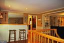 The bar adjoins the kitchen and living room - 21 ANNIES LN, SPERRYVILLE