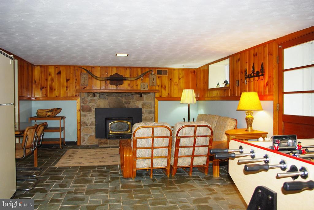Family room in English basement with slate floors - 21 ANNIES LN, SPERRYVILLE