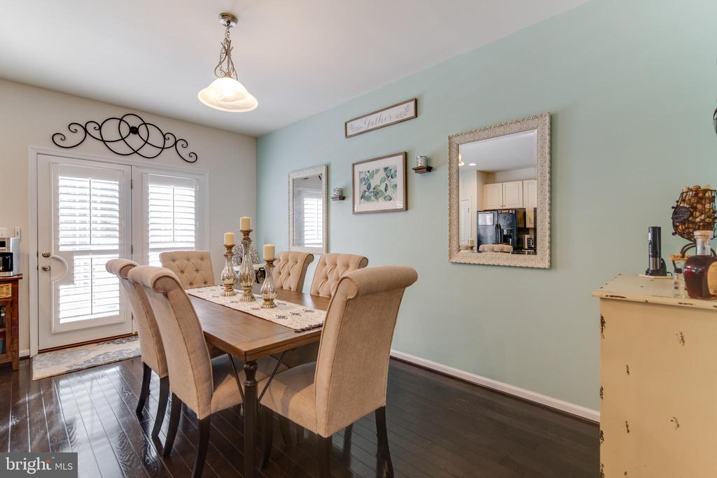 Dining room area with french doors to upper deck - 4624 ALLIANCE WAY, FREDERICKSBURG