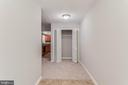 The foyer is tiled and what a great closet! - 10248 APPALACHIAN CIR #1-A3, OAKTON
