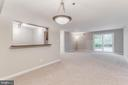 A wonderful cut out area from kitchen to dining rm - 10248 APPALACHIAN CIR #1-A3, OAKTON
