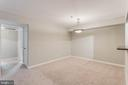 Dining area has so much space for table and more - 10248 APPALACHIAN CIR #1-A3, OAKTON