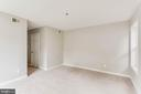 This hallway goes from master to walk in closet - 10248 APPALACHIAN CIR #1-A3, OAKTON