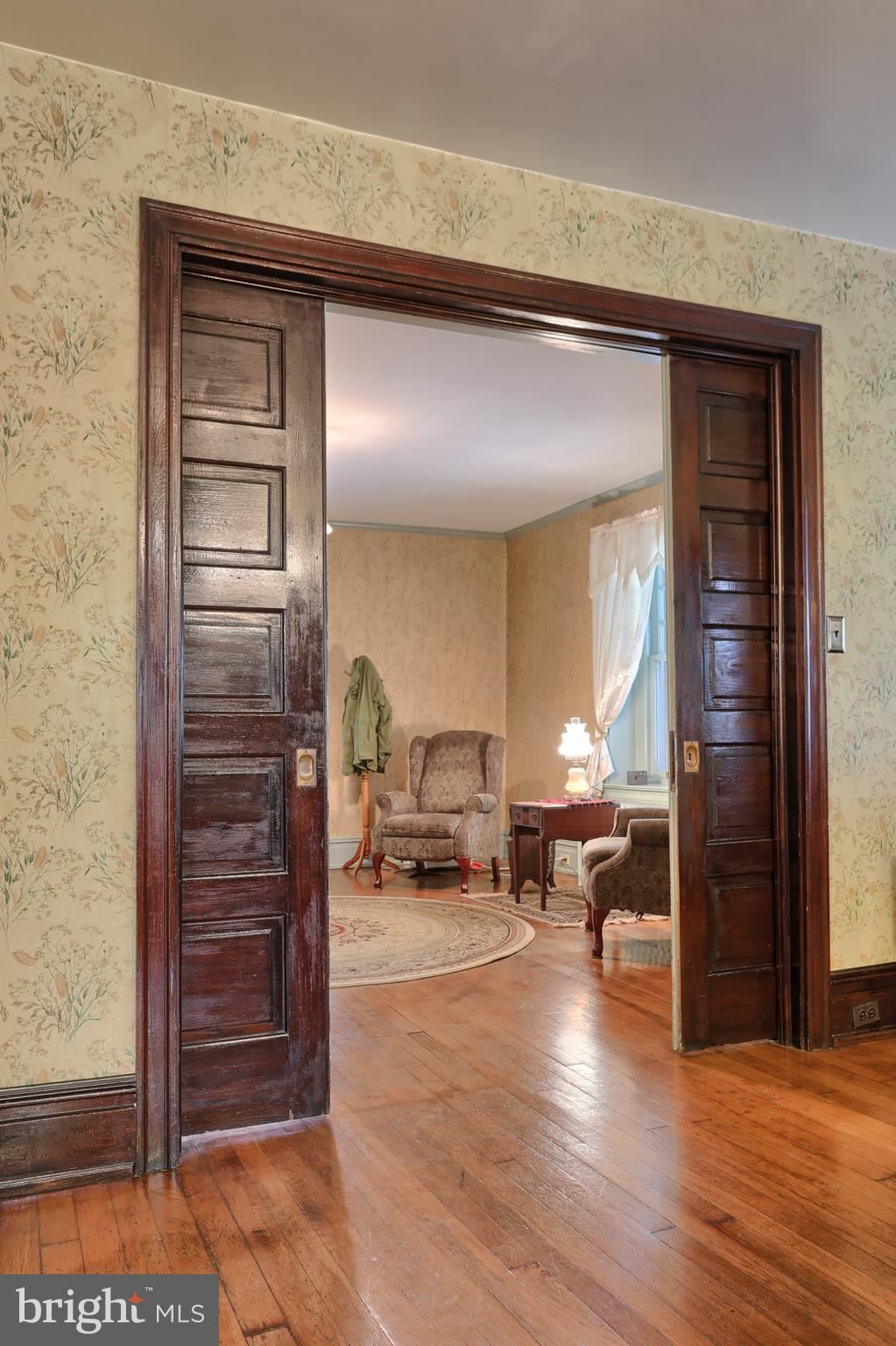 Pocket doors into the library