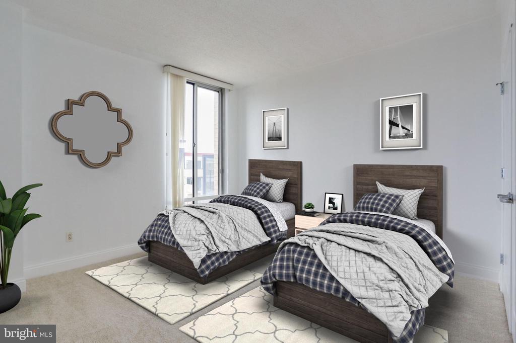 Bedroom #2 (Virtually Staged) - 1020 N HIGHLAND ST #524, ARLINGTON