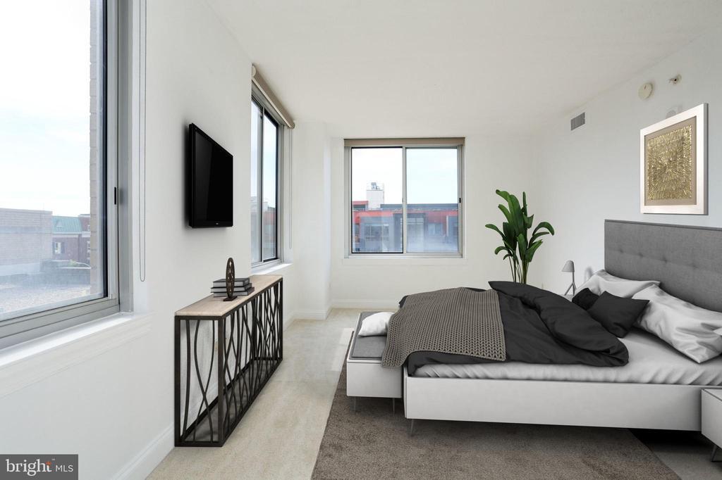 Master Bedroom (Virtually Staged) - 1020 N HIGHLAND ST #524, ARLINGTON