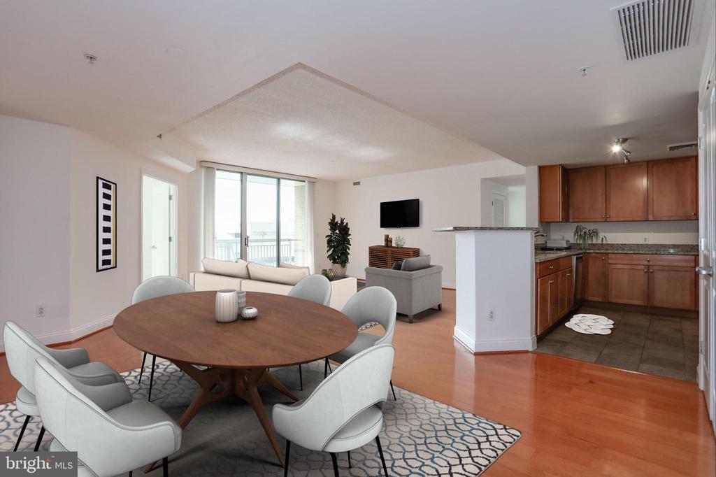 Dining / Kitchen (Virtually Staged) - 1020 N HIGHLAND ST #524, ARLINGTON
