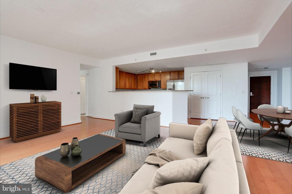 Living / Dining Combo (Virtually Staged) - 1020 N HIGHLAND ST #524, ARLINGTON